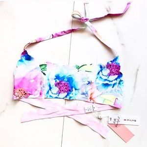 NWT Anthro PilyQ Watercolor Reverse Seamless Top